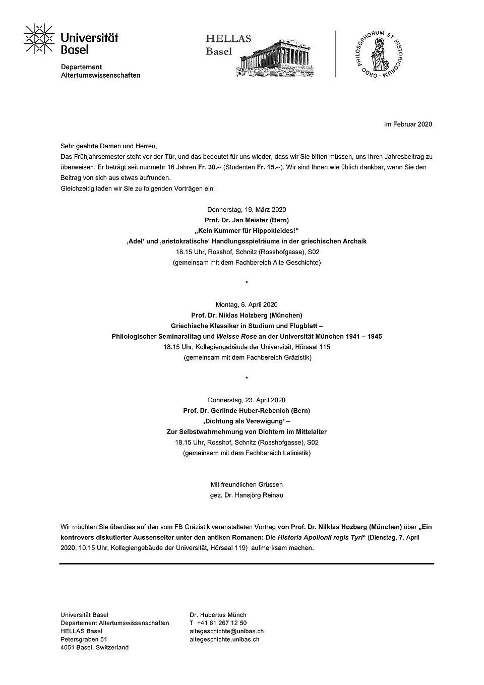 Programm HELLAS FS20