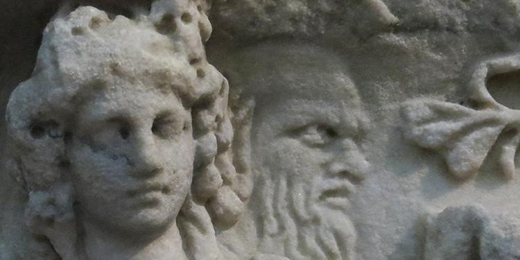 Sarkophag mit Darstellung des Athena-Marsyas-Mythos, Liebieghaus Frankfurt