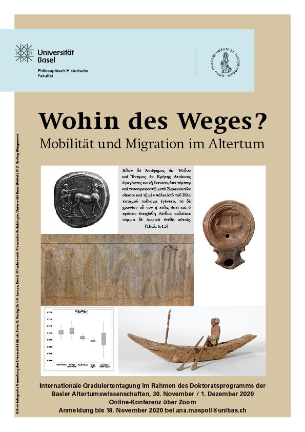"""Plakat """"Migration und Mobilität im Altertum"""""""